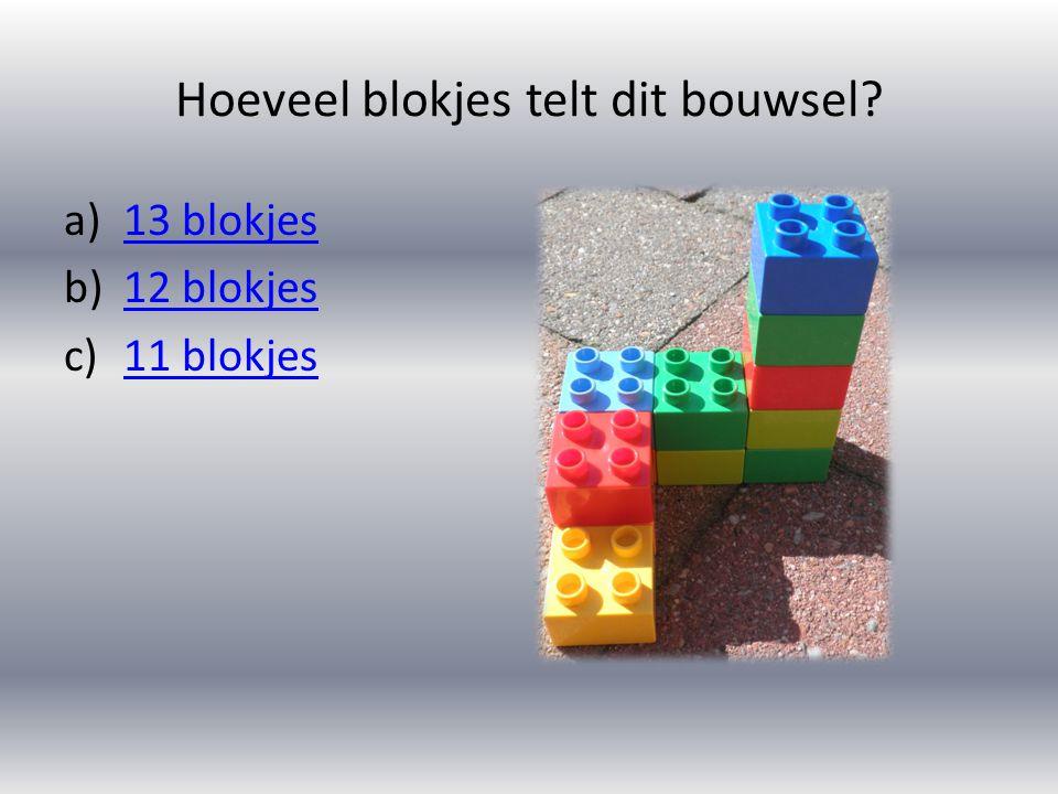 Hoeveel blokjes telt dit bouwsel