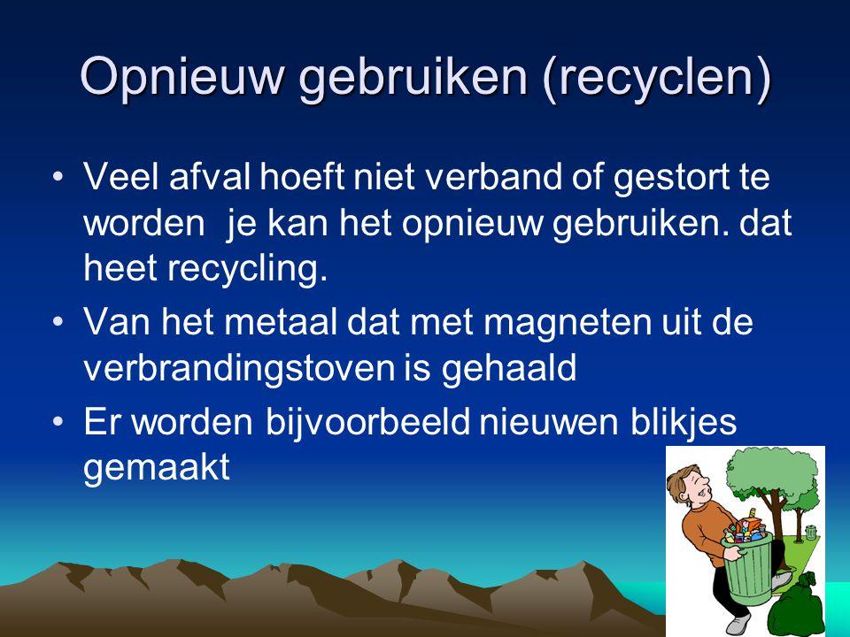Opnieuw gebruiken (recyclen)