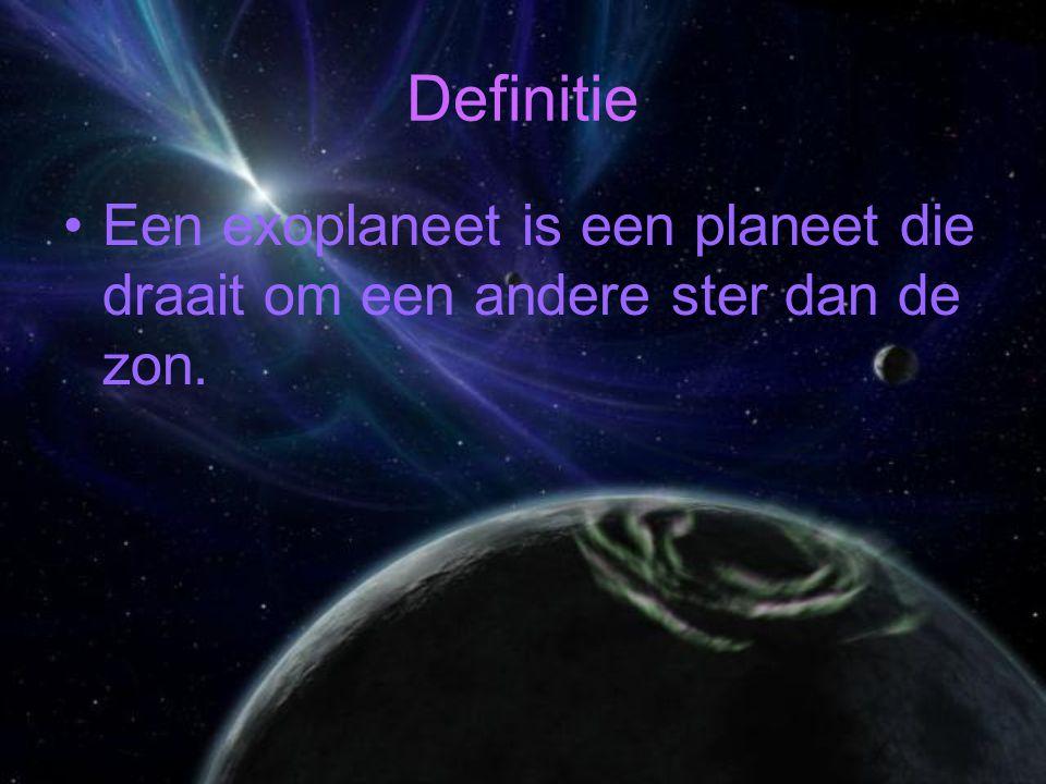 Definitie Een exoplaneet is een planeet die draait om een andere ster dan de zon.