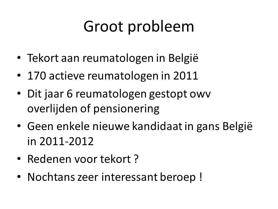 Groot probleem Tekort aan reumatologen in België