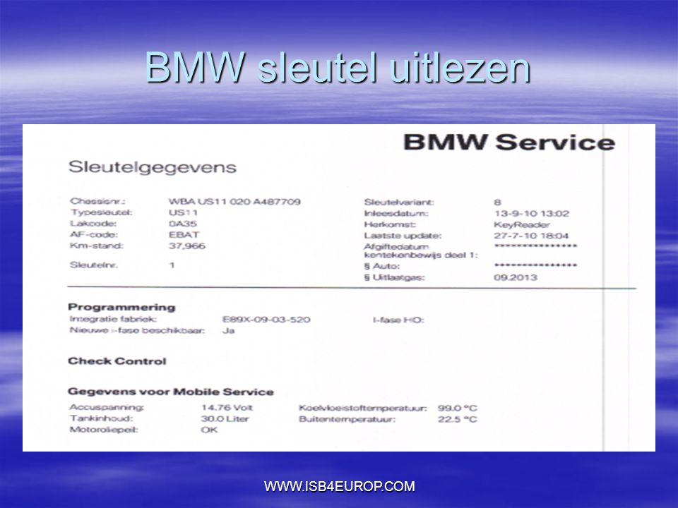 BMW sleutel uitlezen WWW.ISB4EUROP.COM