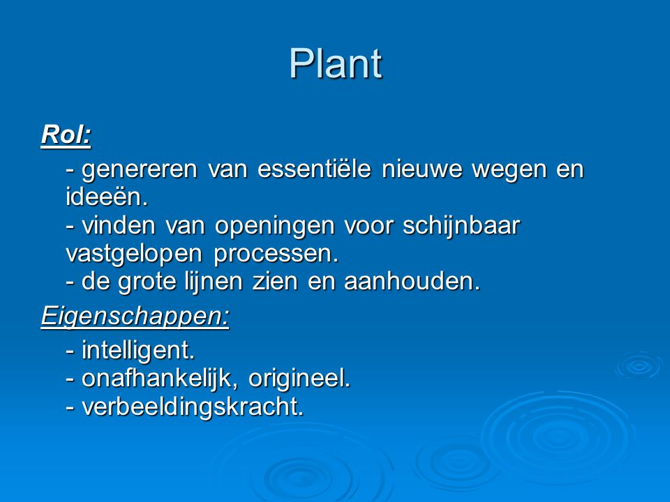 Plant Rol: