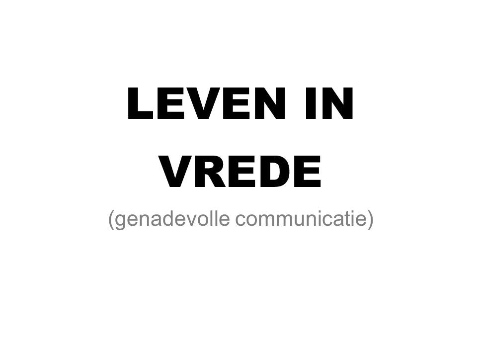 (genadevolle communicatie)