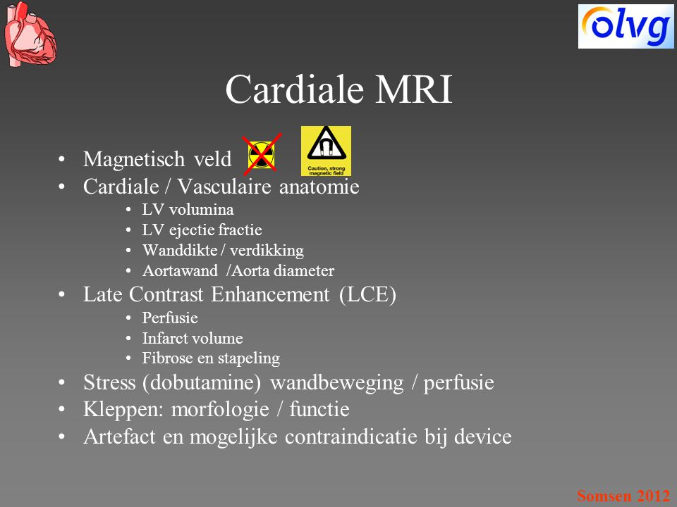 Cardiale MRI Magnetisch veld Cardiale / Vasculaire anatomie