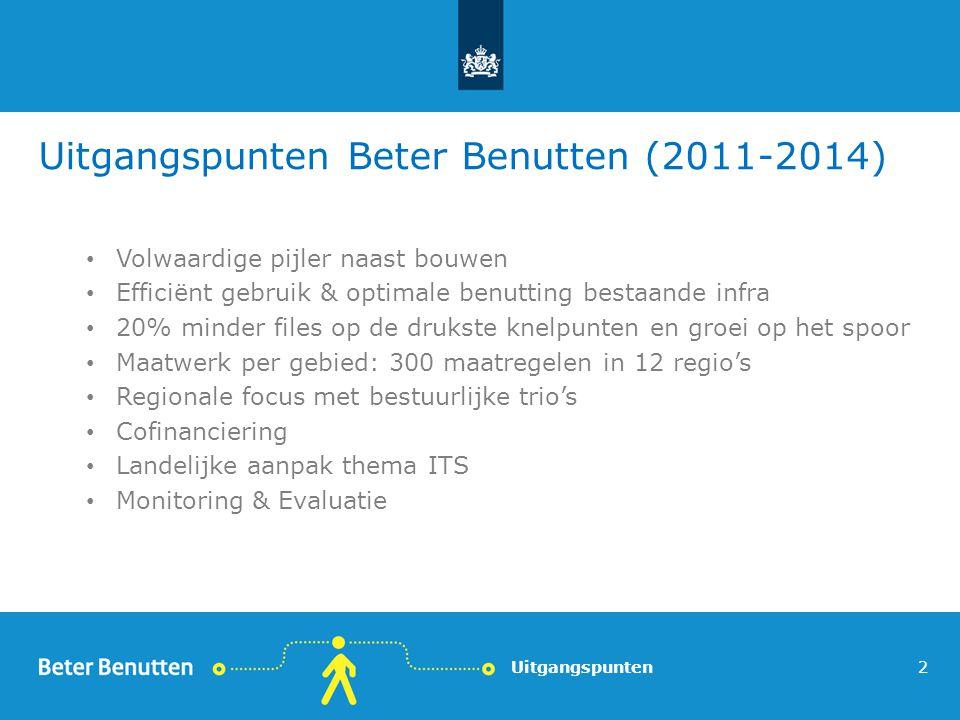 Uitgangspunten Beter Benutten (2011-2014)