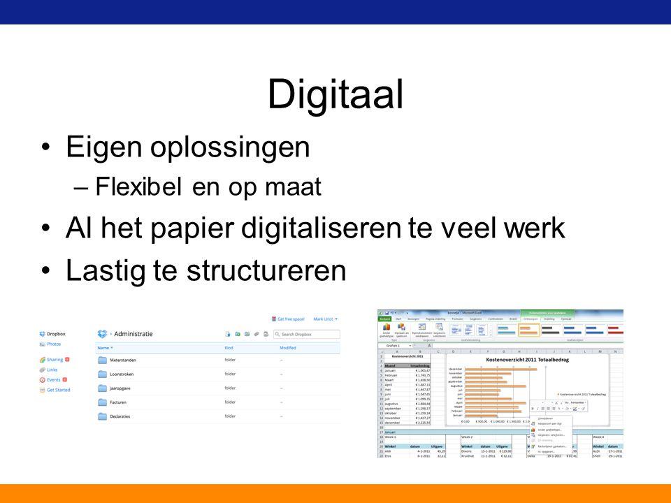 Digitaal Eigen oplossingen Al het papier digitaliseren te veel werk