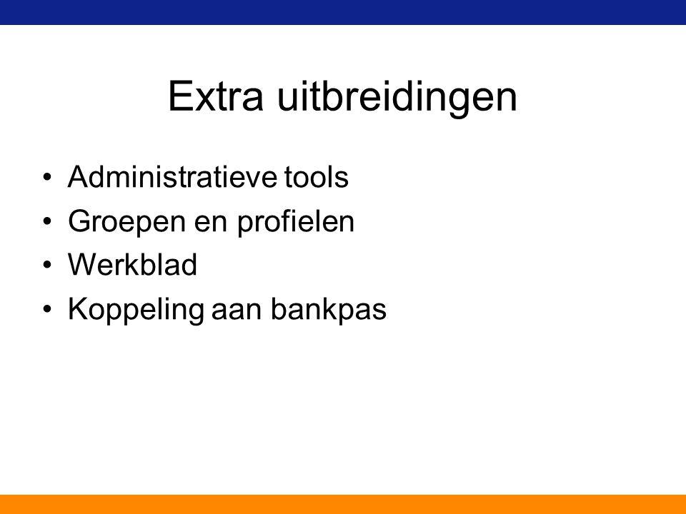 Extra uitbreidingen Administratieve tools Groepen en profielen