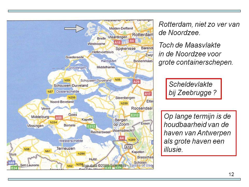 Rotterdam, niet zo ver van de Noordzee.