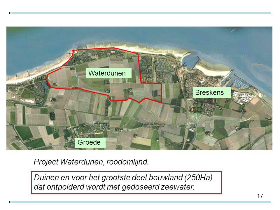Project Waterdunen, roodomlijnd.