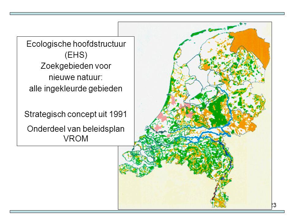Ecologische hoofdstructuur (EHS) Zoekgebieden voor nieuwe natuur: