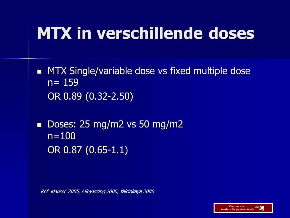 MTX in verschillende doses