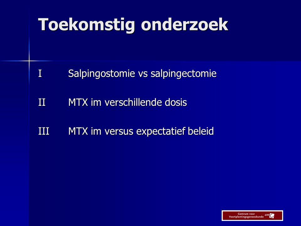 Toekomstig onderzoek I Salpingostomie vs salpingectomie