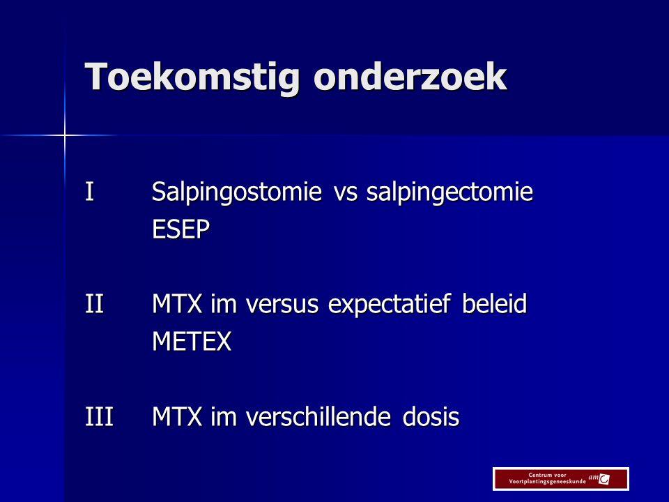 Toekomstig onderzoek I Salpingostomie vs salpingectomie ESEP