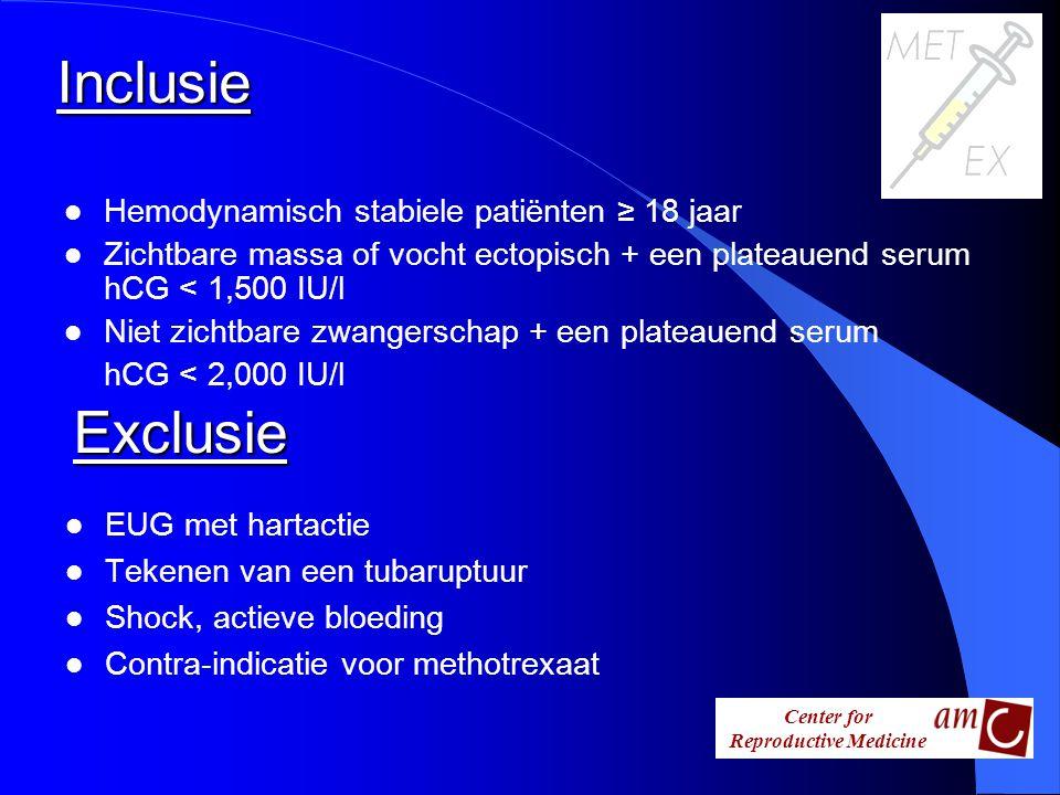 Inclusie Exclusie Hemodynamisch stabiele patiënten ≥ 18 jaar