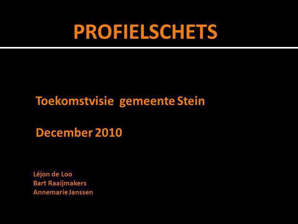 PROFIELSCHETS Toekomstvisie gemeente Stein December 2010 Léjon de Loo