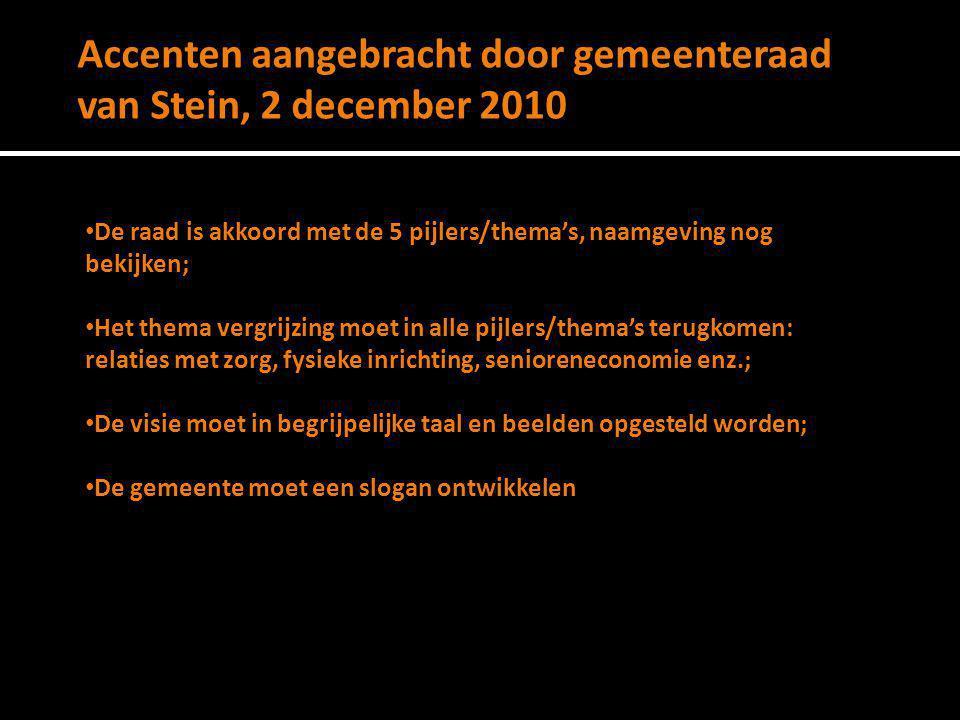 Accenten aangebracht door gemeenteraad van Stein, 2 december 2010