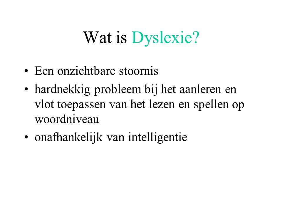 Wat is Dyslexie Een onzichtbare stoornis