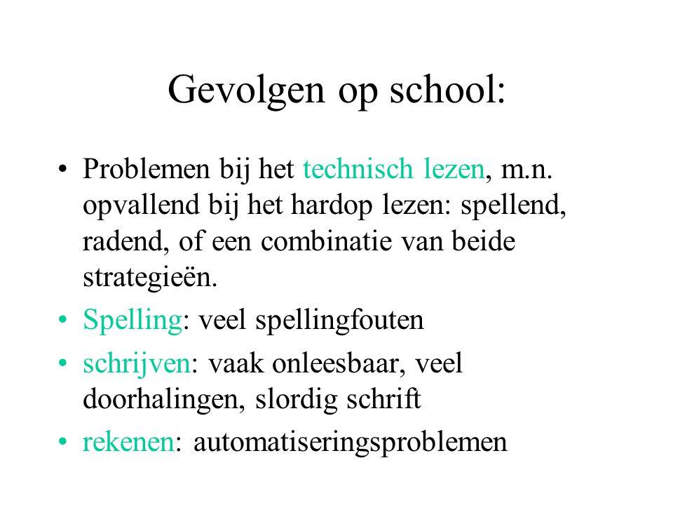 Gevolgen op school: