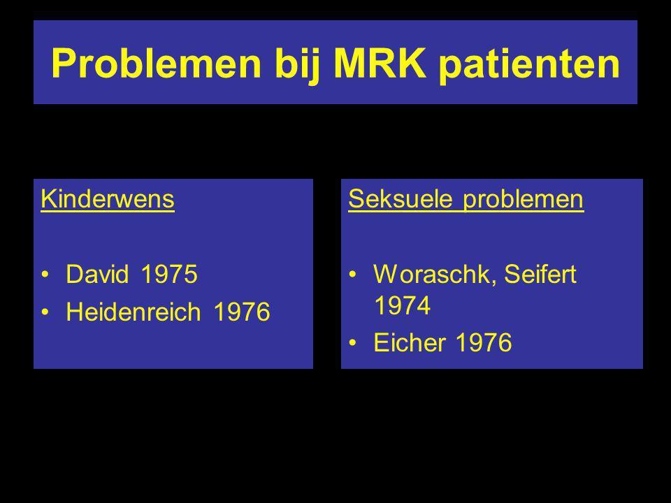 Problemen bij MRK patienten