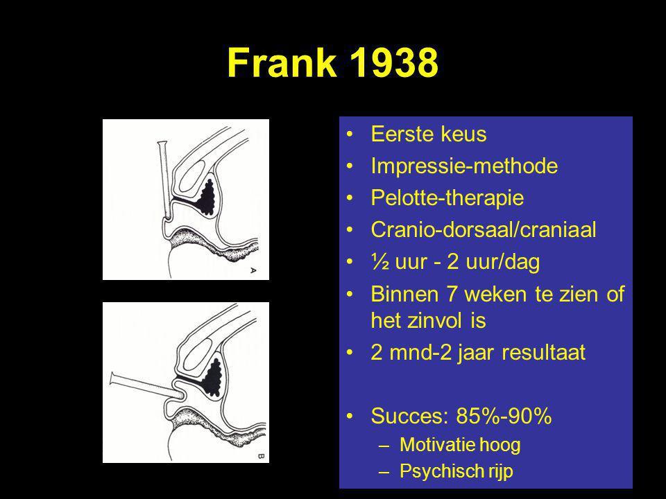 Frank 1938 Eerste keus Impressie-methode Pelotte-therapie