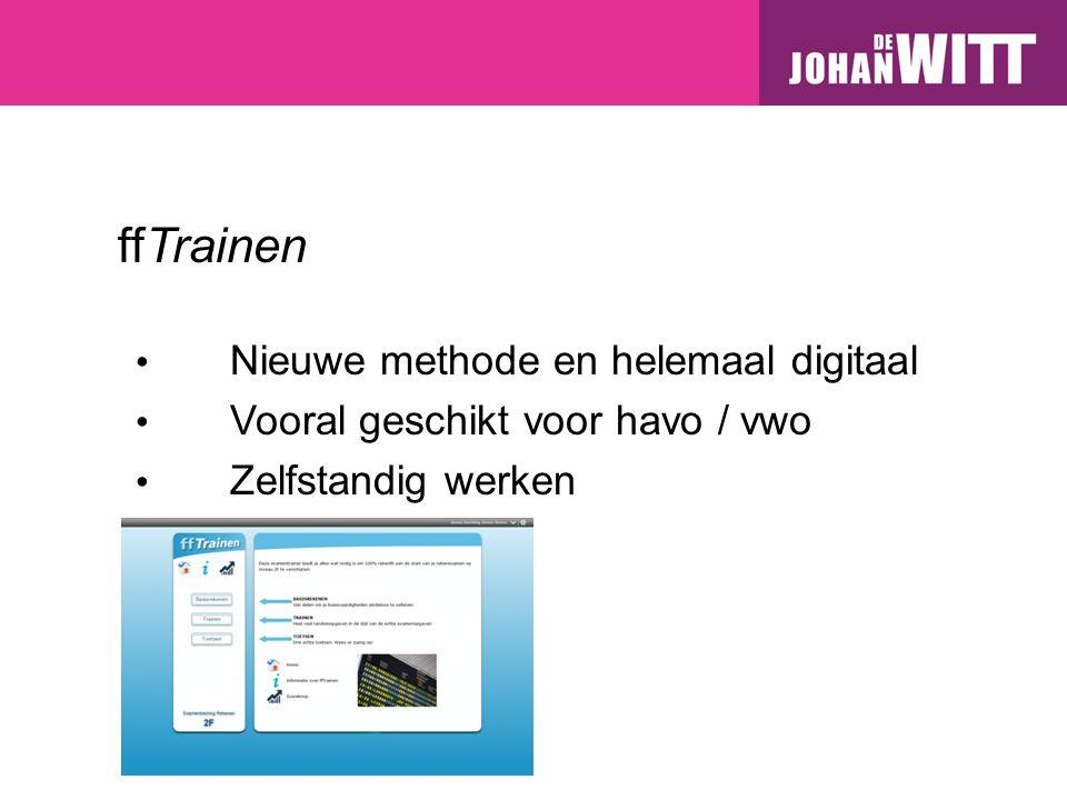 ffTrainen Nieuwe methode en helemaal digitaal