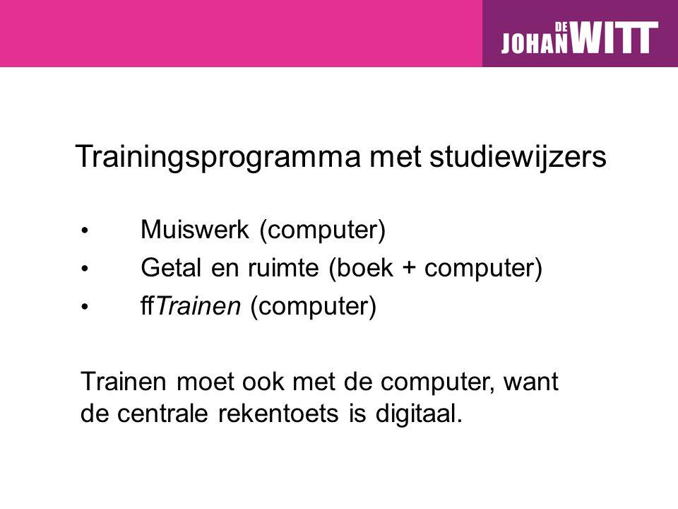 Trainingsprogramma met studiewijzers