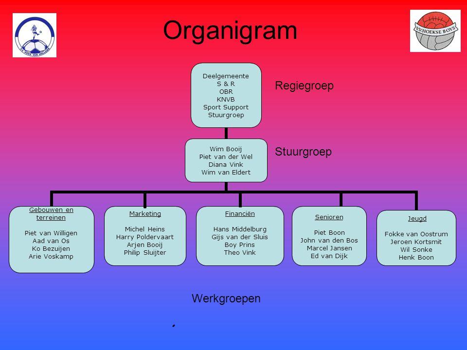Organigram Regiegroep Stuurgroep Werkgroepen