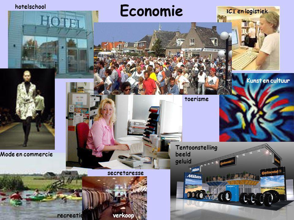 Economie hotelschool ICT en logistiek Kunst en cultuur toerisme