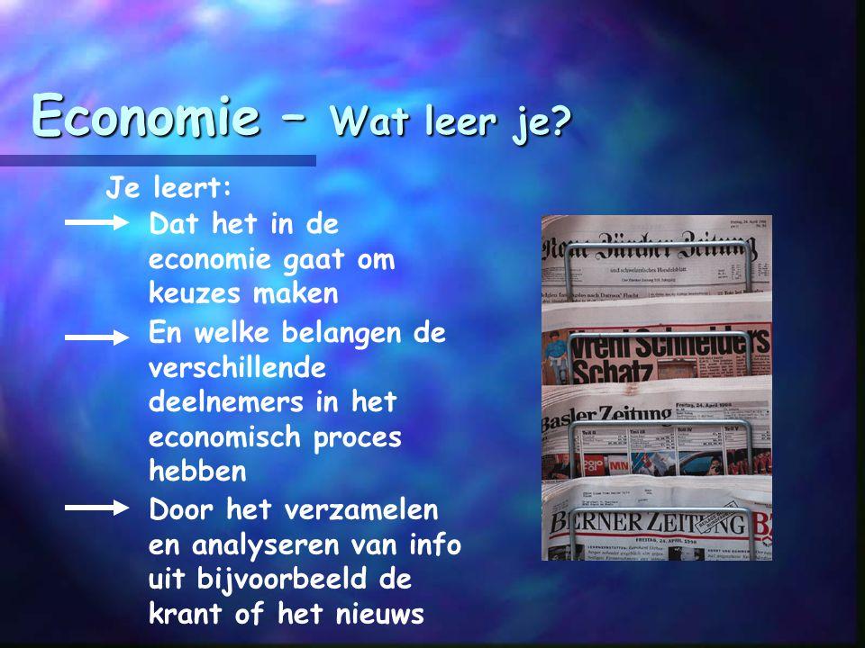 Economie – Wat leer je Je leert: