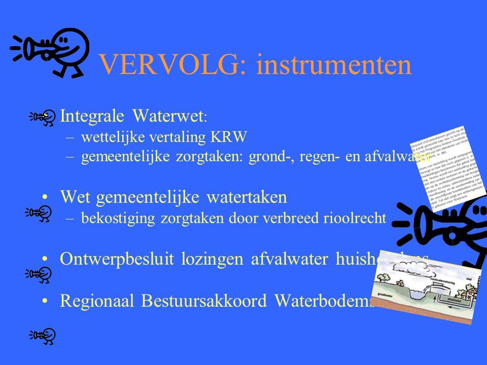 VERVOLG: instrumenten