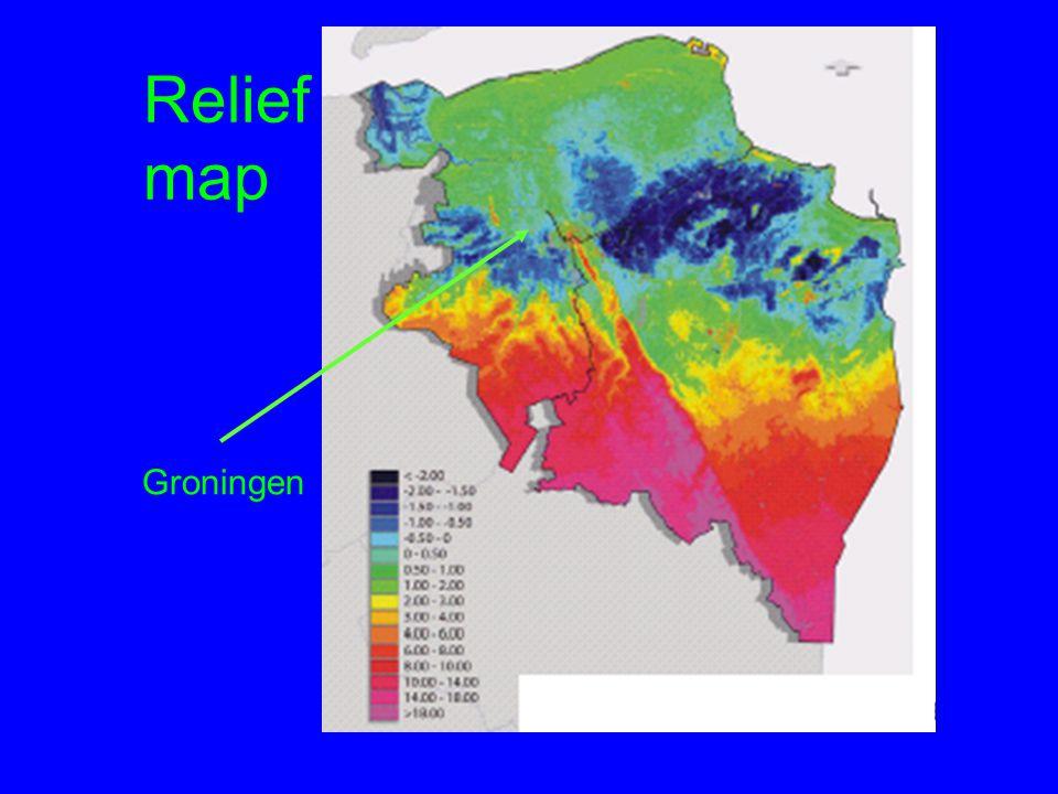 Relief map Relief map Groningen
