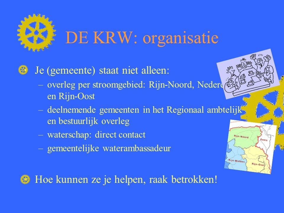 DE KRW: organisatie Je (gemeente) staat niet alleen:
