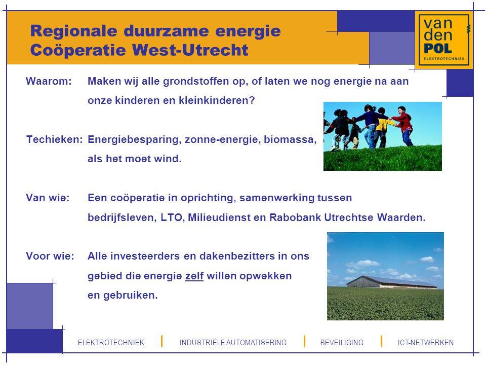 Regionale duurzame energie Coöperatie West-Utrecht