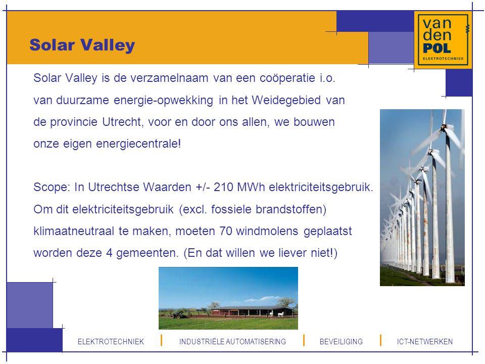 Solar Valley Solar Valley is de verzamelnaam van een coöperatie i.o.