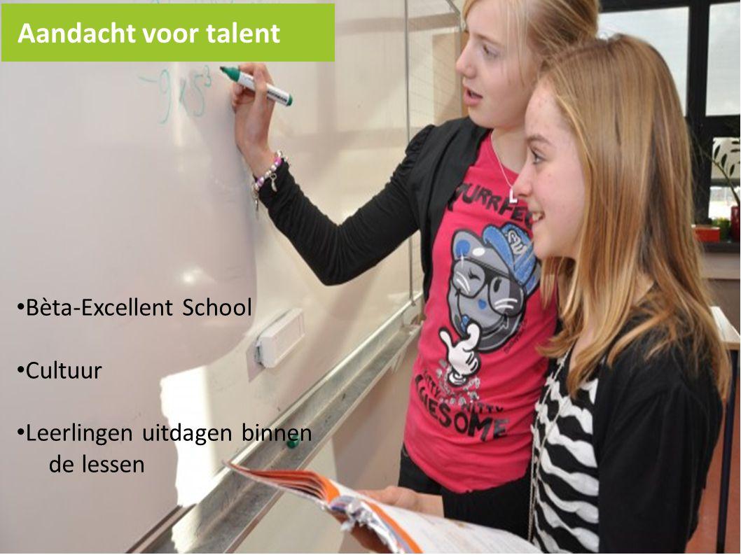 Aandacht voor talent Bèta-Excellent School Cultuur