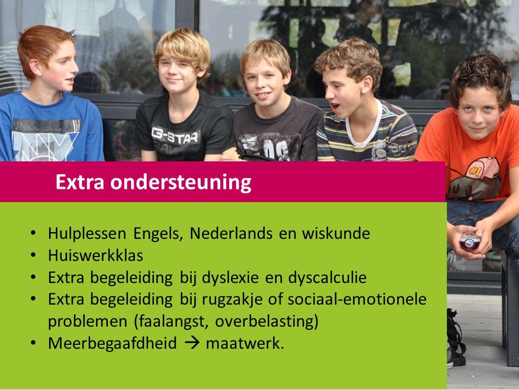 Extra ondersteuning Hulplessen Engels, Nederlands en wiskunde
