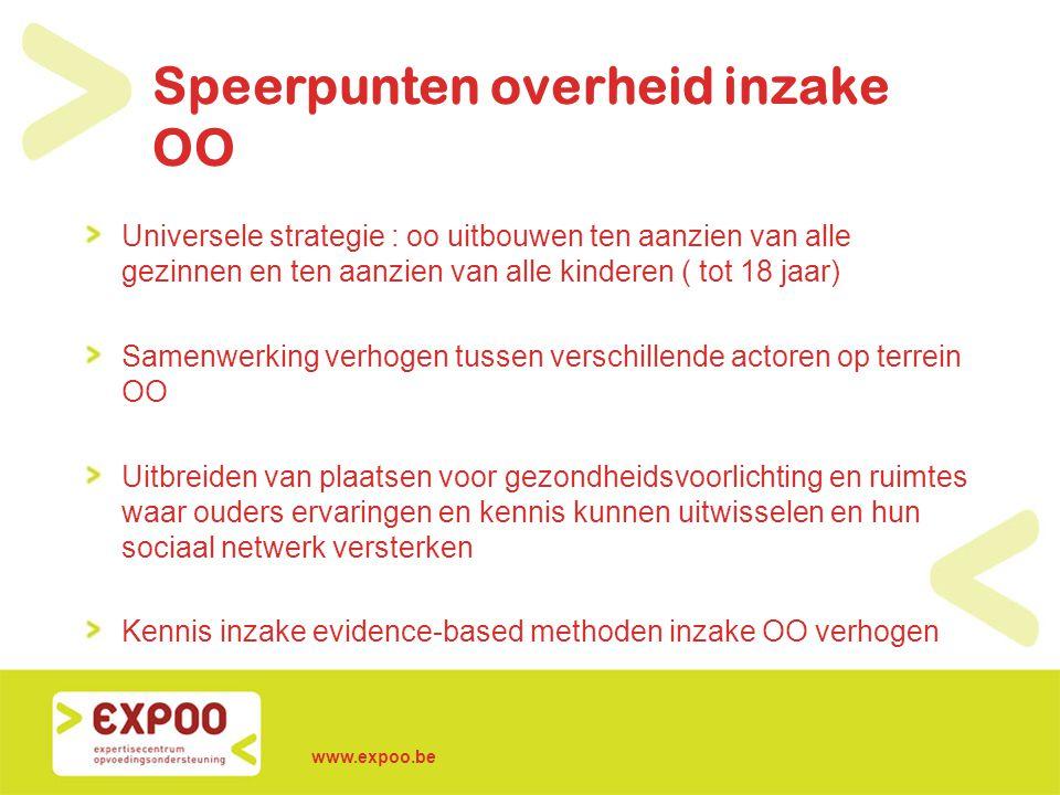 Speerpunten overheid inzake OO
