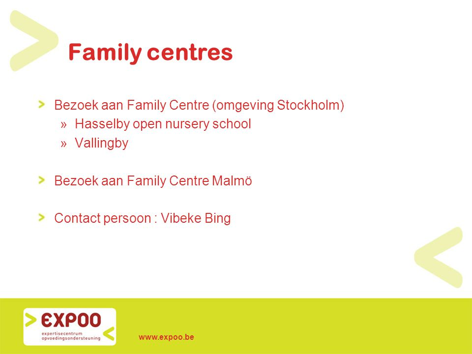 Family centres Bezoek aan Family Centre (omgeving Stockholm)