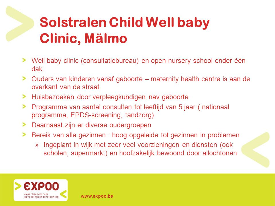 Solstralen Child Well baby Clinic, Mälmo