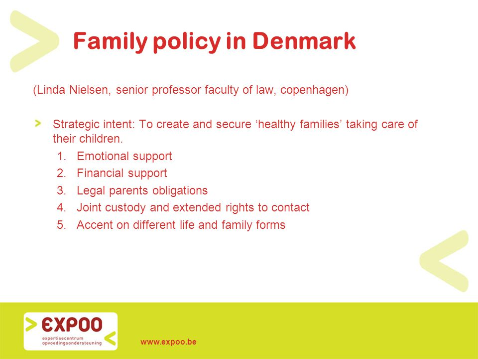 Family policy in Denmark