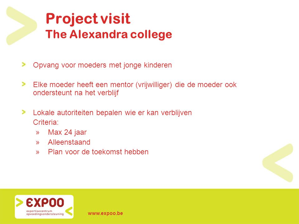 Project visit The Alexandra college