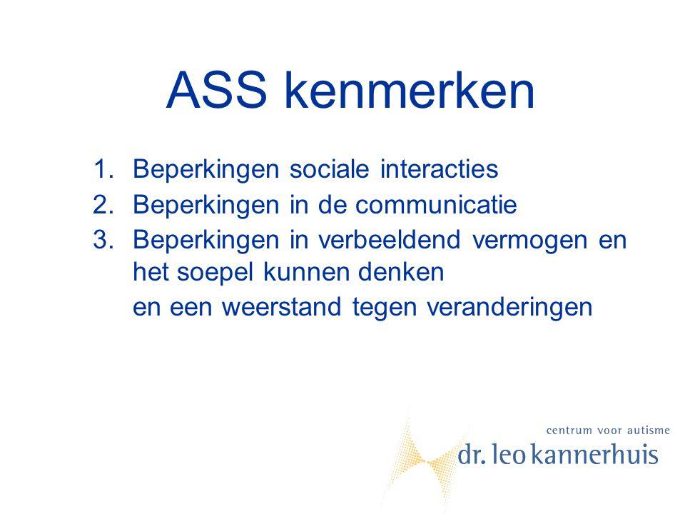 ASS kenmerken Beperkingen sociale interacties