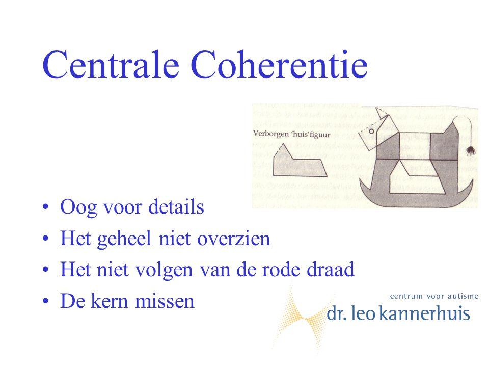 Centrale Coherentie Oog voor details Het geheel niet overzien