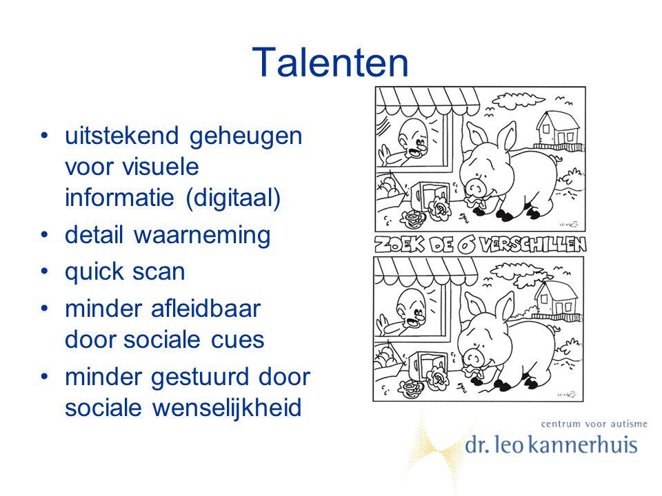 Talenten uitstekend geheugen voor visuele informatie (digitaal)