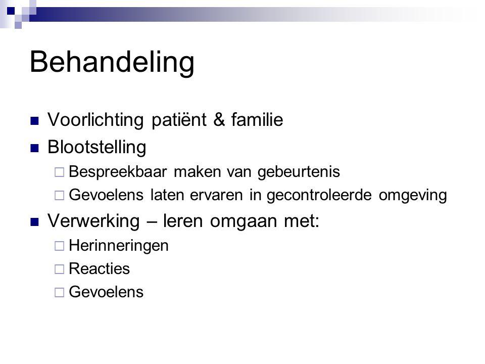 Behandeling Voorlichting patiënt & familie Blootstelling