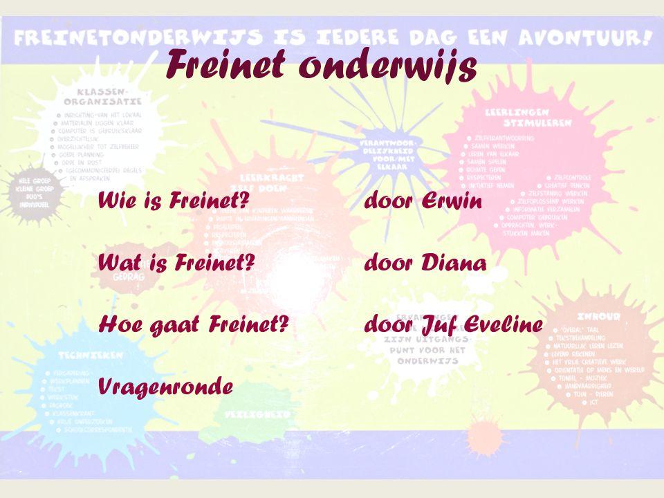 Freinet onderwijs Wie is Freinet door Erwin