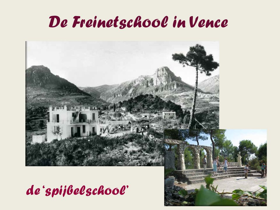 De Freinetschool in Vence