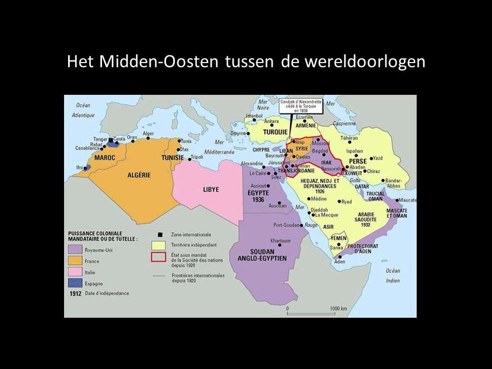Het Midden-Oosten tussen de wereldoorlogen