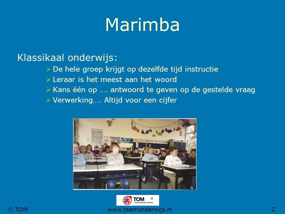 Marimba Klassikaal onderwijs: