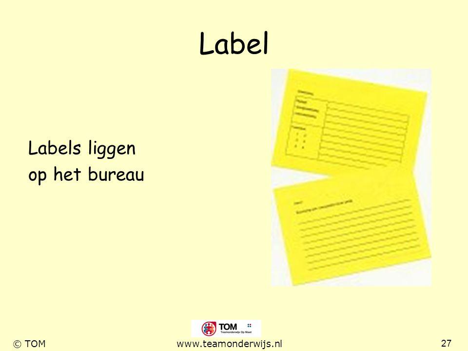 Label Labels liggen op het bureau